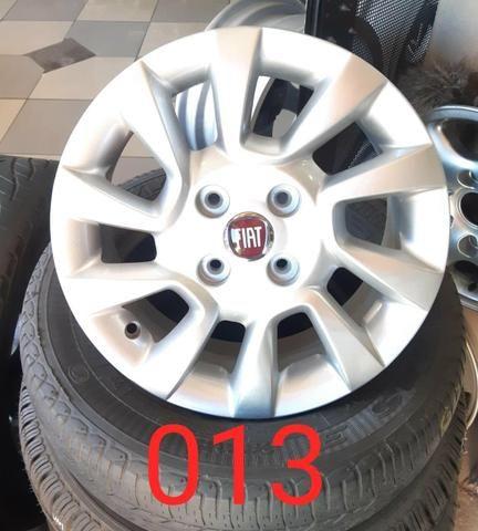 Rodas aro 14 Fiat liga leve no estado de gente - Foto 6