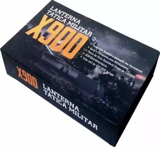 Lanterna x900 recarregável tática militar - Foto 5