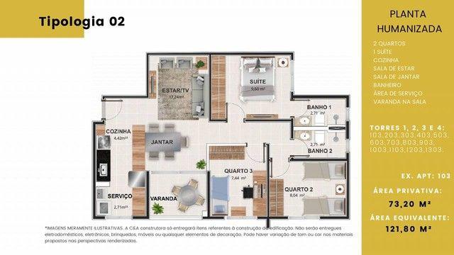 Apartamento para venda tem 73 metros quadrados com 3 quartos em Granja Marileusa - Uberlân - Foto 16
