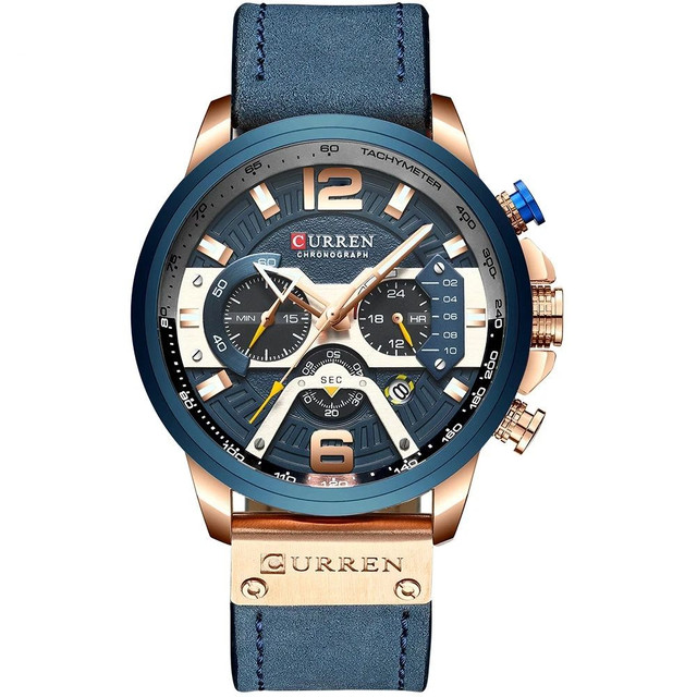 Relógio Curren Azul<br>Luxo - Foto 2