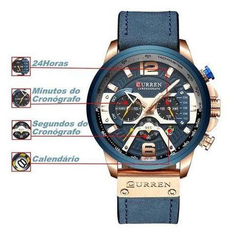 Relógio Curren Azul<br>Luxo - Foto 4