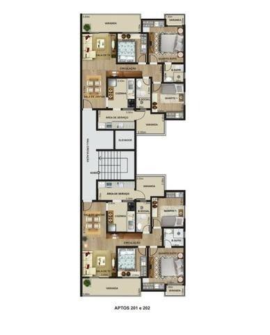 Lindo com 3/4 por R$ 295.000 suíte varandas e elevador em Recanto da Mata - Foto 3
