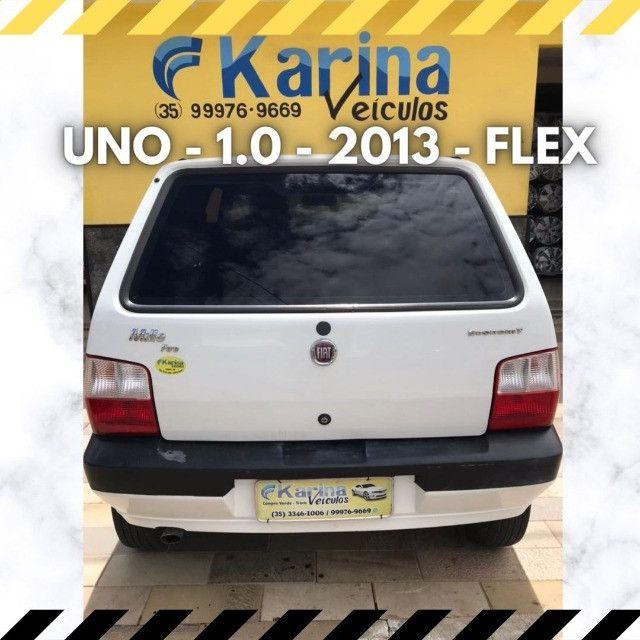 Uno Mille - 1.0 - 2013 - Flex - ótima oferta para um ótimo carro!!! - Foto 2