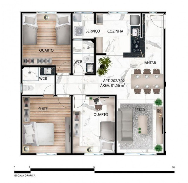 Apartamento de 03 quartos no Bairro dos Estados. 318-9689 - Foto 4