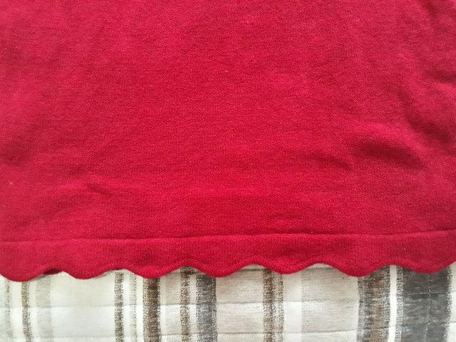 Vestido tricô vermelho - Foto 4