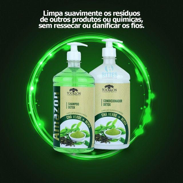 Kit Detox Chá Verde e Menta Para cabelos Oleosos - Foto 3
