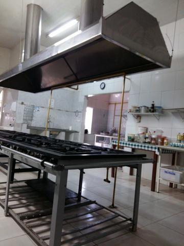 Coifa industrial em inox