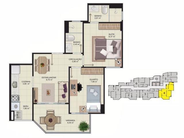 Cobertura para venda em vitória, maruipe, 2 dormitórios, 1 suíte, 2 banheiros, 2 vagas - Foto 20