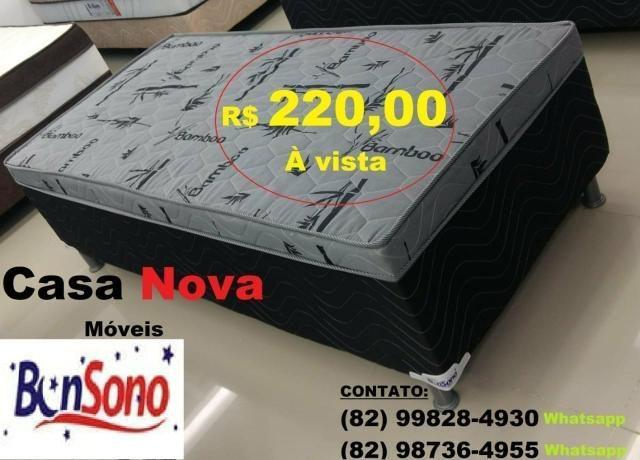 Cama Box Casal BonSono 260 Reais - Foto 2