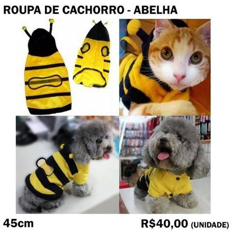 Roupa de Gato ou Cachorro (Abelha)