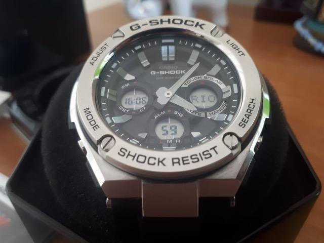 d237f68a3c2 Relógio Casio G-shock G-steel Gst-s110 Original Novo C  Nota