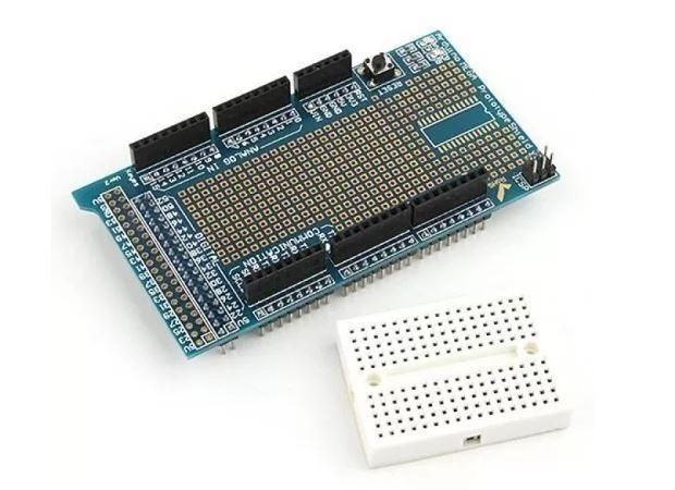 COD-AM148 Arduino Mega Shield Placa Expansao Protoshield V3 Arduino Automação Robotica