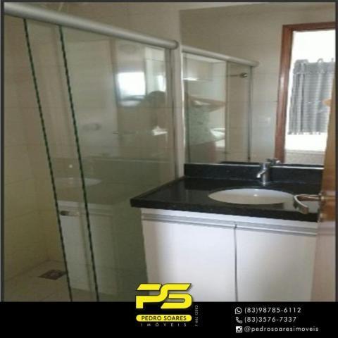 Apartamento com 2 dormitórios para alugar, 60 m² por R$ 3.500,00/mês - Tambaú - João Pesso - Foto 7