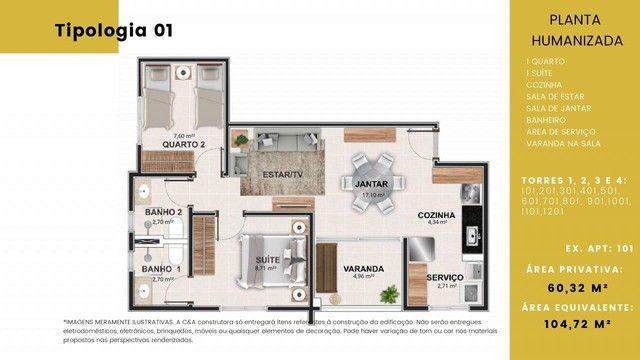Apartamento para venda tem 73 metros quadrados com 3 quartos em Granja Marileusa - Uberlân - Foto 15