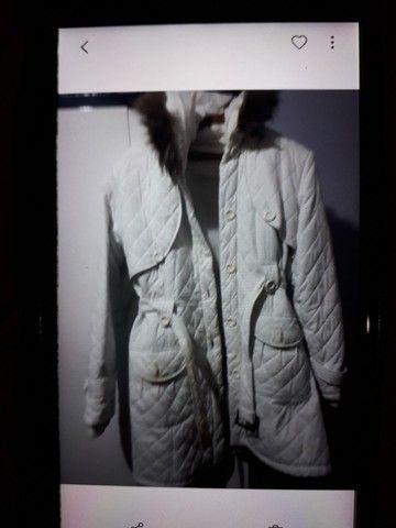 Jaqueta nylon branca