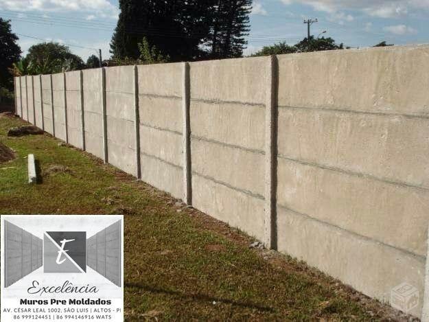 Muro Pre Moldado de Concreto (R$50,00 Metro Quadrado já Montado no Local e com garantia)