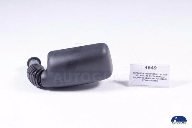 Retrovisor Externo Fiat Uno 85/88 3P/5P Manual Esquerdo Preto (Bp)
