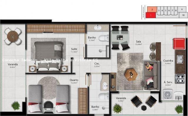 Apartamento para venda em vitória, barro vermelho, 2 dormitórios, 1 suíte, 2 banheiros, 1  - Foto 16