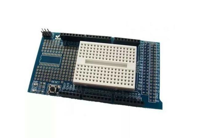 COD-AM148 Arduino Mega Shield Placa Expansao Protoshield V3 Arduino Automação Robotica - Foto 2