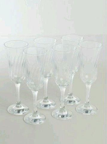 Jogo 6 taças de vidro para champagne - Foto 2