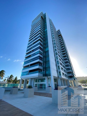 Edifício Green Village: beira mar de Guaxuma, 4 suítes, 222 m², varanda gourmet