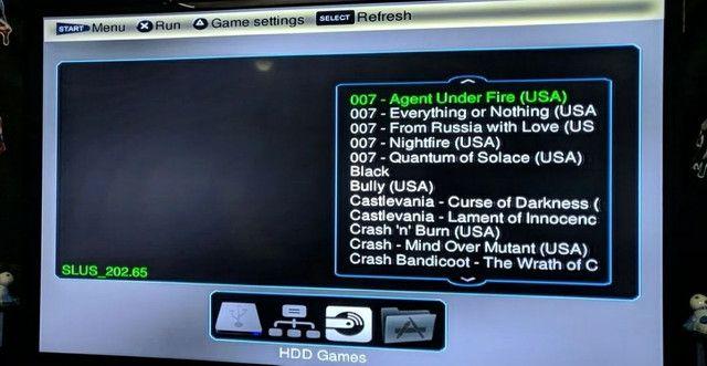 Playstation 2 com HD interno + externo - Foto 4