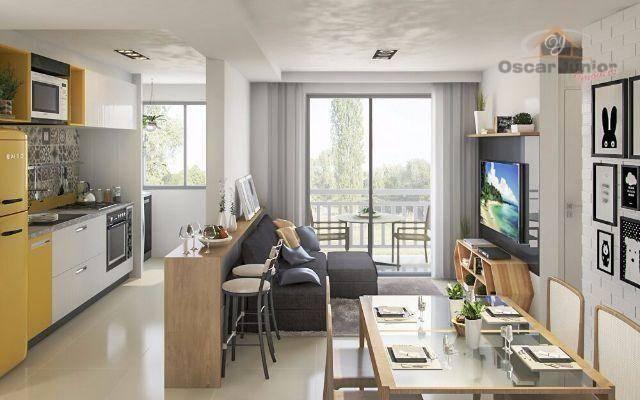 Apartamento com 2 dormitórios à venda, 49 m² por R$ 169.735,00 - Centro - Eusébio/CE - Foto 3
