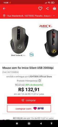 mouse gamer 2000dpi sem fio