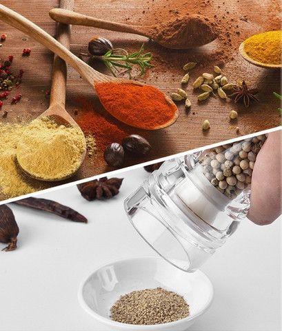 Moedor de Pimenta Sal Cozinha Churrasqueira Condimento em acrílico linda peça - Foto 3