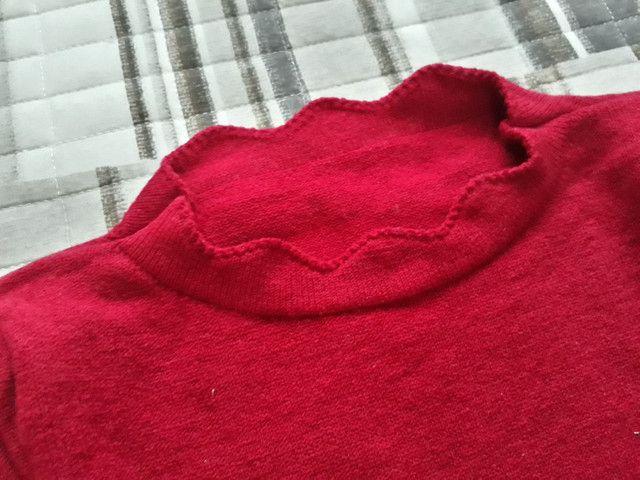 Vestido tricô vermelho - Foto 2