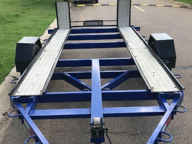 Carretinha reboque para veiculos Capacidade 1300 kg articulável, pneus novos - Foto 2