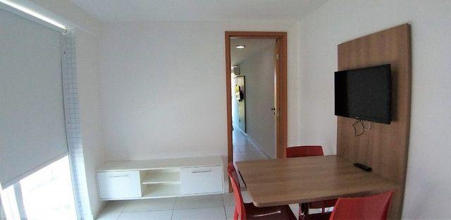 (AP0921) Apartamento beira mar, com 34m², 1 suíte, varanda vista mar - Tambaú - Foto 5