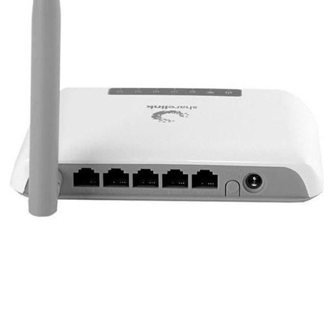 Roteador Wireless Sharelink SL-WR150N 1 Antena 150Mbps em 2.4GHz - Branco<br><br> - Foto 2