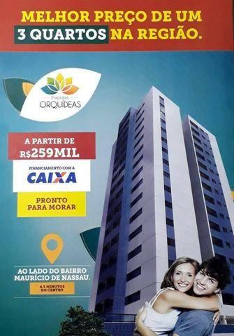 Apartamentos 3 Quartos (1 suíte) 71m2 e 75m2 Ed. Praça das Orquídeas, próx Faculdade Asces