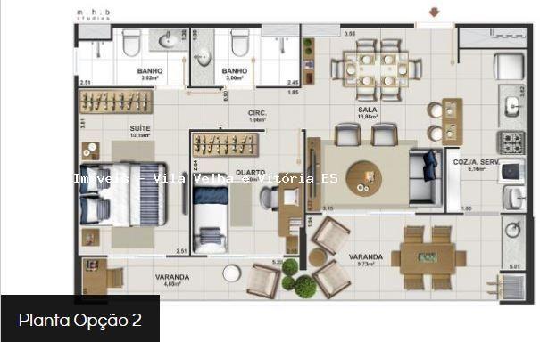 Apartamento para venda em vitória, jardim camburi, 2 dormitórios, 1 suíte, 2 banheiros, 2  - Foto 14