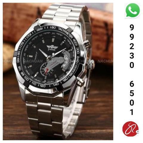 2a72b4476e2 Relógio Naviforce 9050 Silver dual time a prova d água 30m ...
