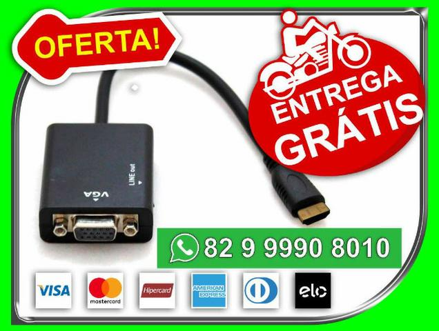 Entregam0s-Graatiis- SP> Adaptador hdmi Pra Vga Com Audio