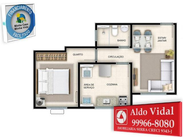 ARV130- Apartamento 2 Q Próximo a Praia Balneário de Carapebus - Foto 13