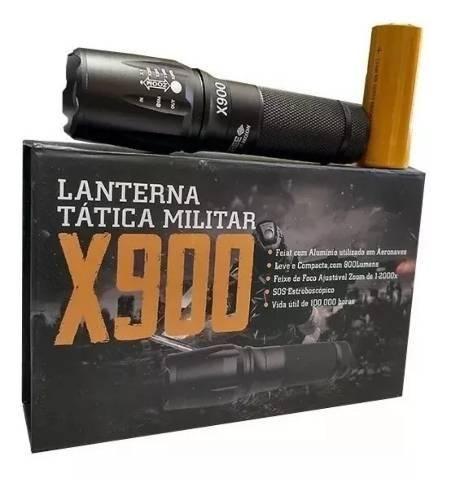 Lanterna x900 recarregável tática militar