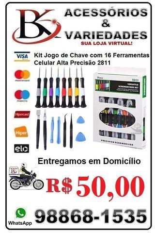 Kit Jogo de Chave com 16 Ferramentas Celular 2811 (Loja BK Variedades)