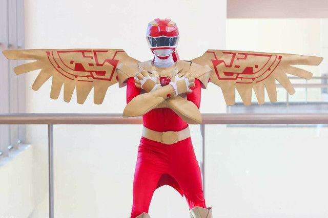 Cosplay Ranger vermelho força animal - Foto 3