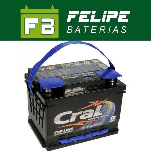 Baterias Para Carro 60Ah!* - Foto 3