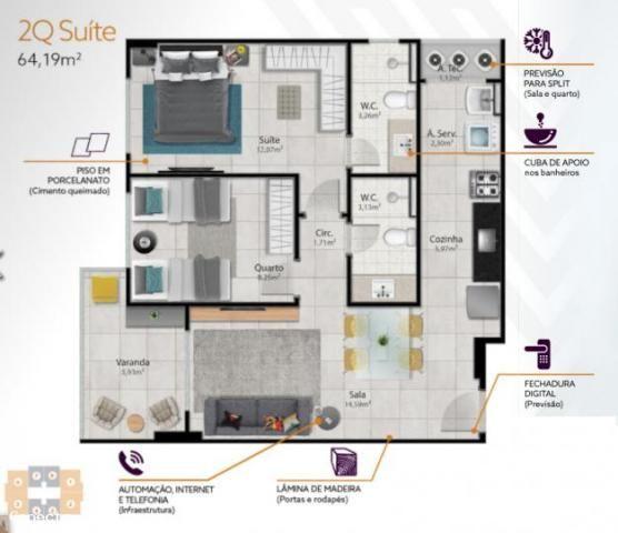 Apartamento para venda em vitória, santa helena, 2 dormitórios, 1 suíte, 2 banheiros, 2 va - Foto 16