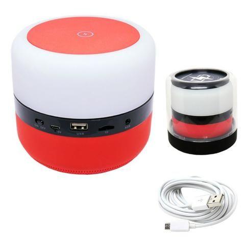 Caixa de Som Bluetooth Led 5w MY-002 Tomate Carregador por Indução Abajur Luminária - Foto 4