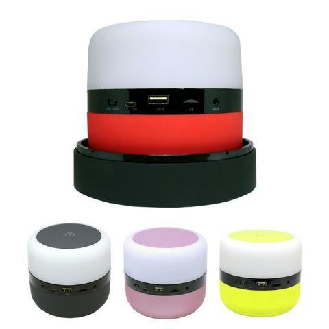 Caixa de Som Bluetooth Led 5w MY-002 Tomate Carregador por Indução Abajur Luminária - Foto 5