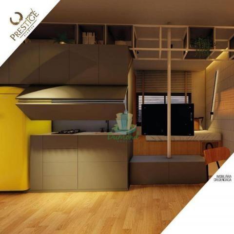 Apartamento com 1 dormitório à venda com 28 m² por R$ 235.200 no Prestige Mercosul Studios - Foto 3