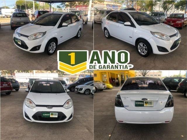 Fiesta Sedam 1.6 Completo + GNV V geração ótimo estado geral entrada R$ 3990,00 + 48 X - Foto 14