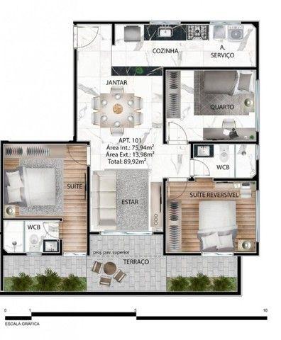 Apartamento de 03 quartos no Bairro dos Estados. 318-9689 - Foto 5