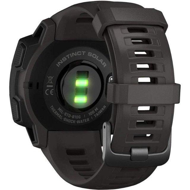 Relógio GPS Garmin Instinct Solar Rugged - 12X Sem Juros - Foto 4