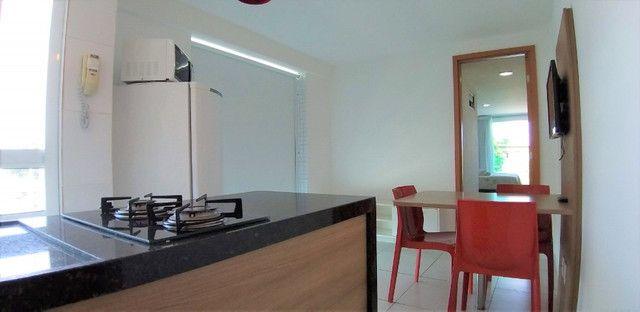 (AP0921) Apartamento beira mar, com 34m², 1 suíte, varanda vista mar - Tambaú
